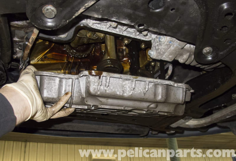 Mercedes benz w211 oil pan gasket replacement 2003 2009 for Mercedes benz oil change price