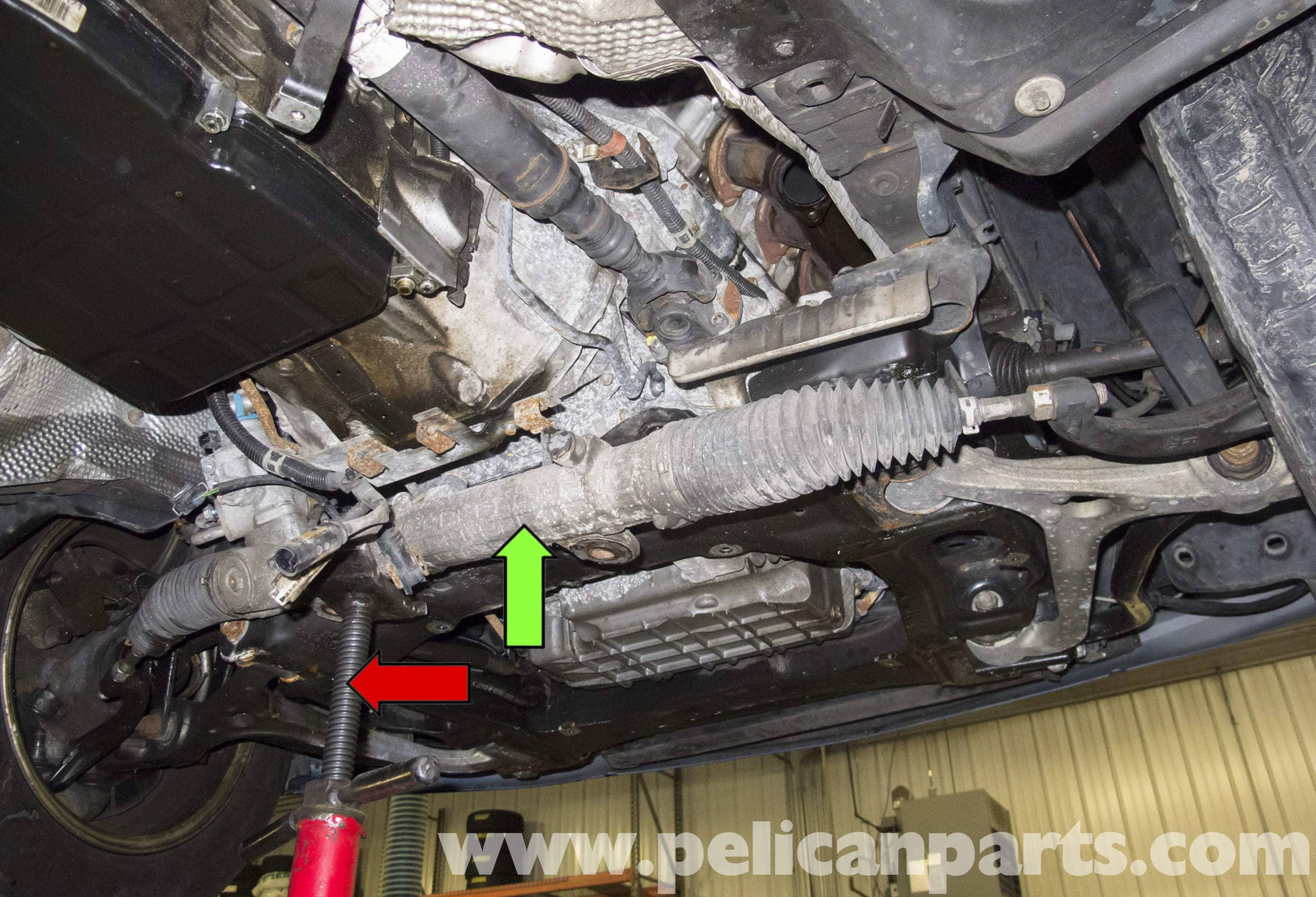 How to remove the steering rack 37