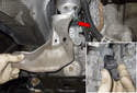 Remove the heat shield from the steering rack.