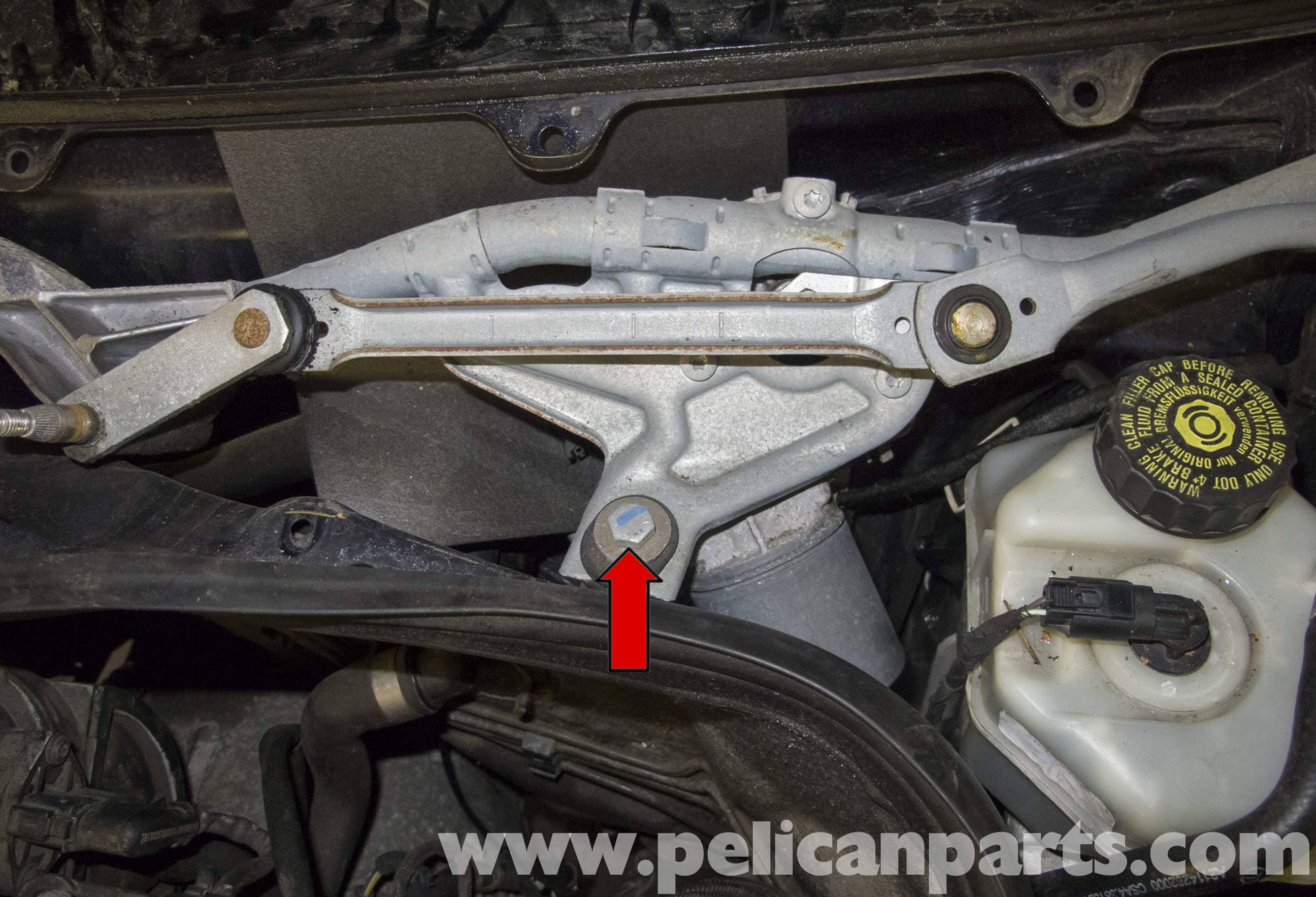 Mercedes benz w211 wiper component replacement 2003 2009 for Mercedes benz windshield wipers replacement