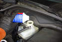 Make sure the brake fluid level is topped up before we start.