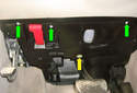 ThisPicture illustrates looking up at the lower panel mounted underneath the dashboard.