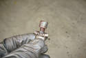 Inspect the parking brake adjustment pawl and make sure you can thread it in and out for the parking brake adjustment.