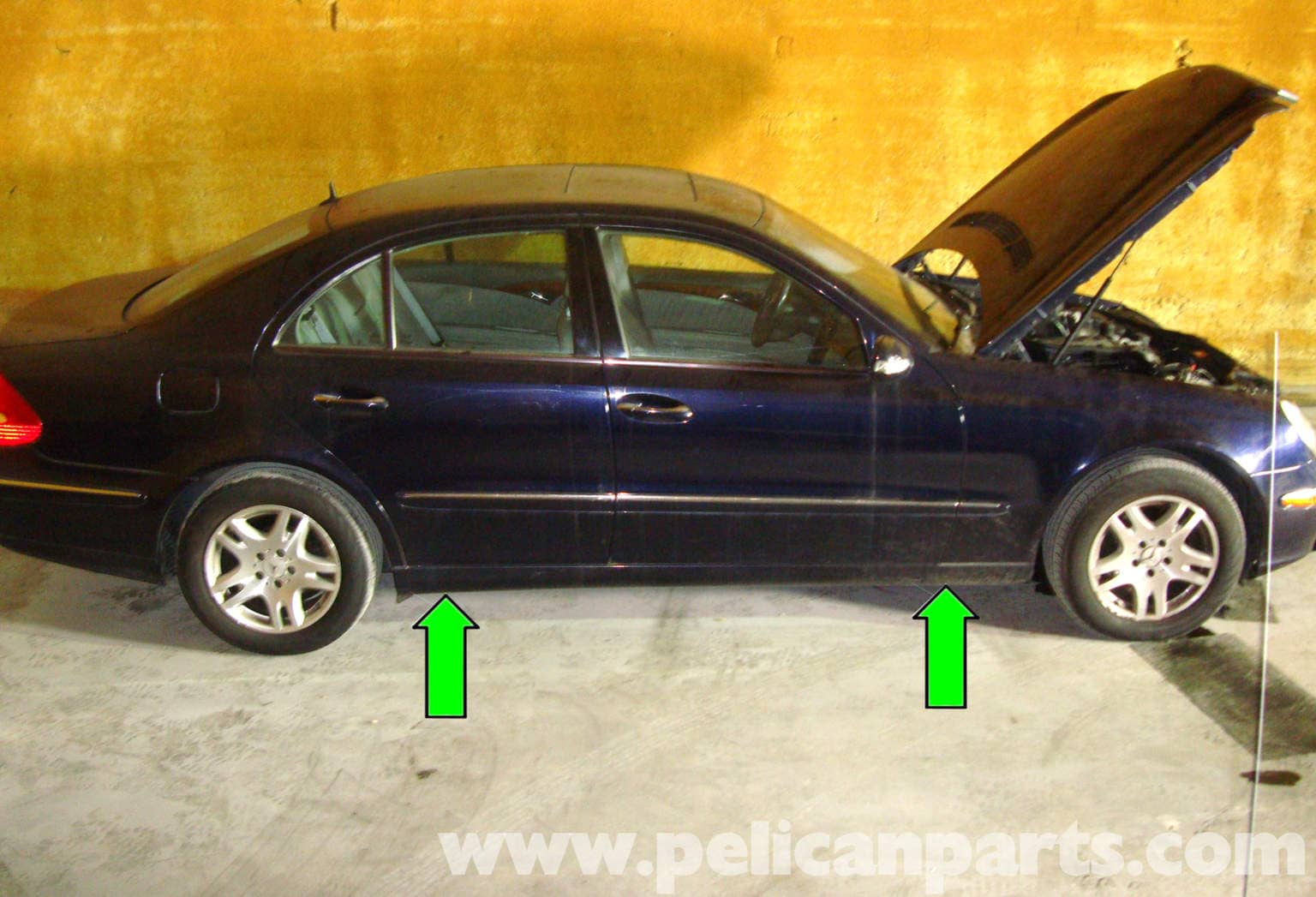 MERCEDES E Class W211 CLS W219 SUBFRAME JACK POINT PAD BLOCK UNDER BODY JACKING
