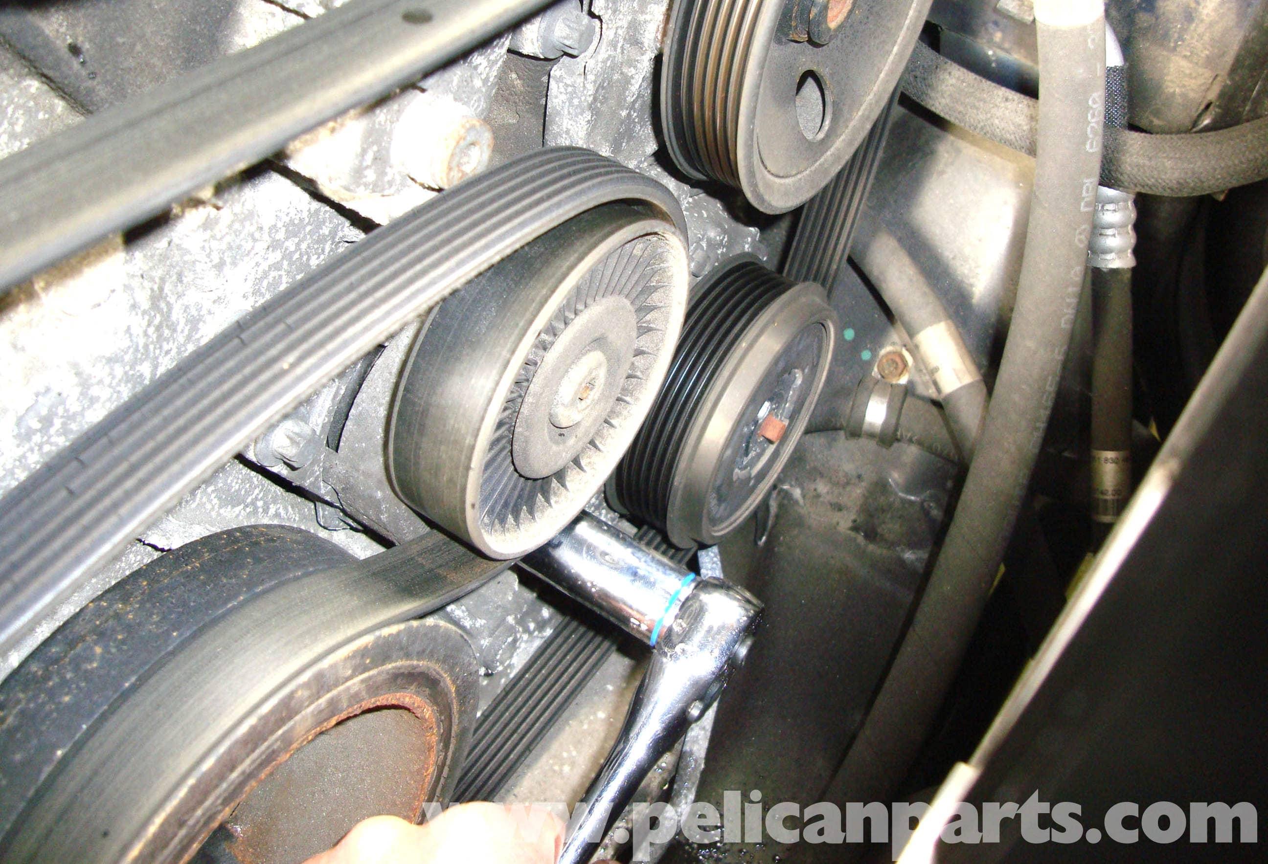 Mercedes benz w211 accessory drive belt tensioner for Mercedes benz serpentine belt replacement