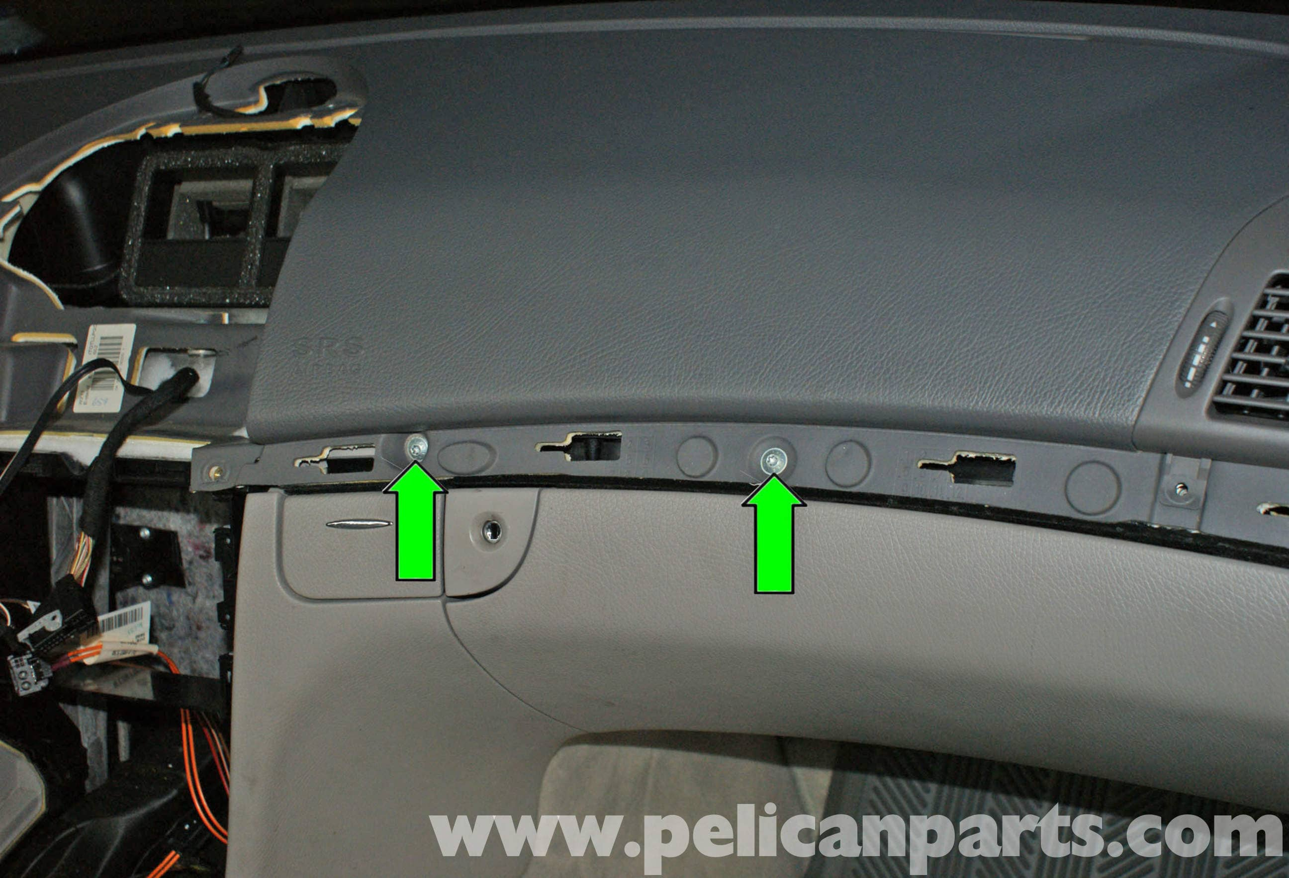 Mercedes-Benz W211 Upper Dashboard Cover Replacement (2003