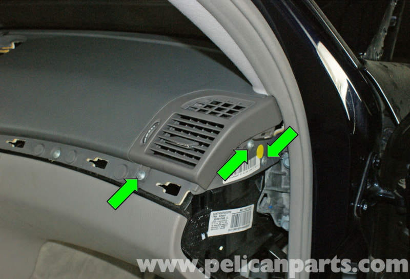 W211 Dash Removal