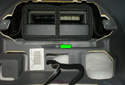 This picture illustrates the center of the dashboard with the climate control unit/air register assembly already removed.