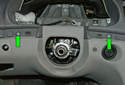 This picture illustrates below the instrument cluster opening.