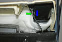 This picture illustrates the right front side of the upper dashboard cover.