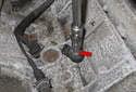 Working at the knock sensors, remove the E10 knock sensor fastener.