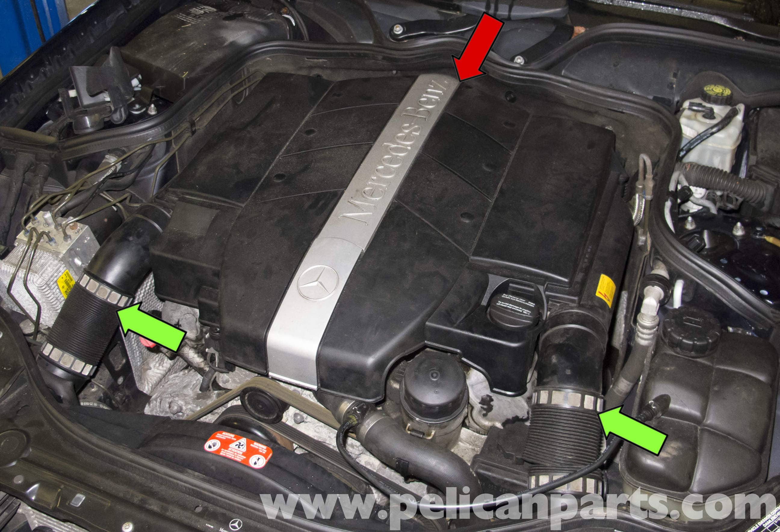 Mercedes Benz W211 6 Cylinder Crankcase Breather Hoses Cover Bmw 2002 Engine Diagram Intake Large Image Extra