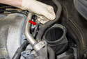 Working at the rear of the intake manifold, pull the breather hose junction out of the intake manifold.