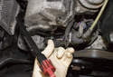Remove the camshaft sensor from the cylinder head.
