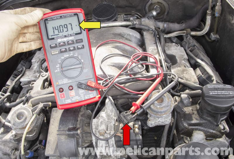 mercedes benz w211 secondary air system component testing electrical generator parts