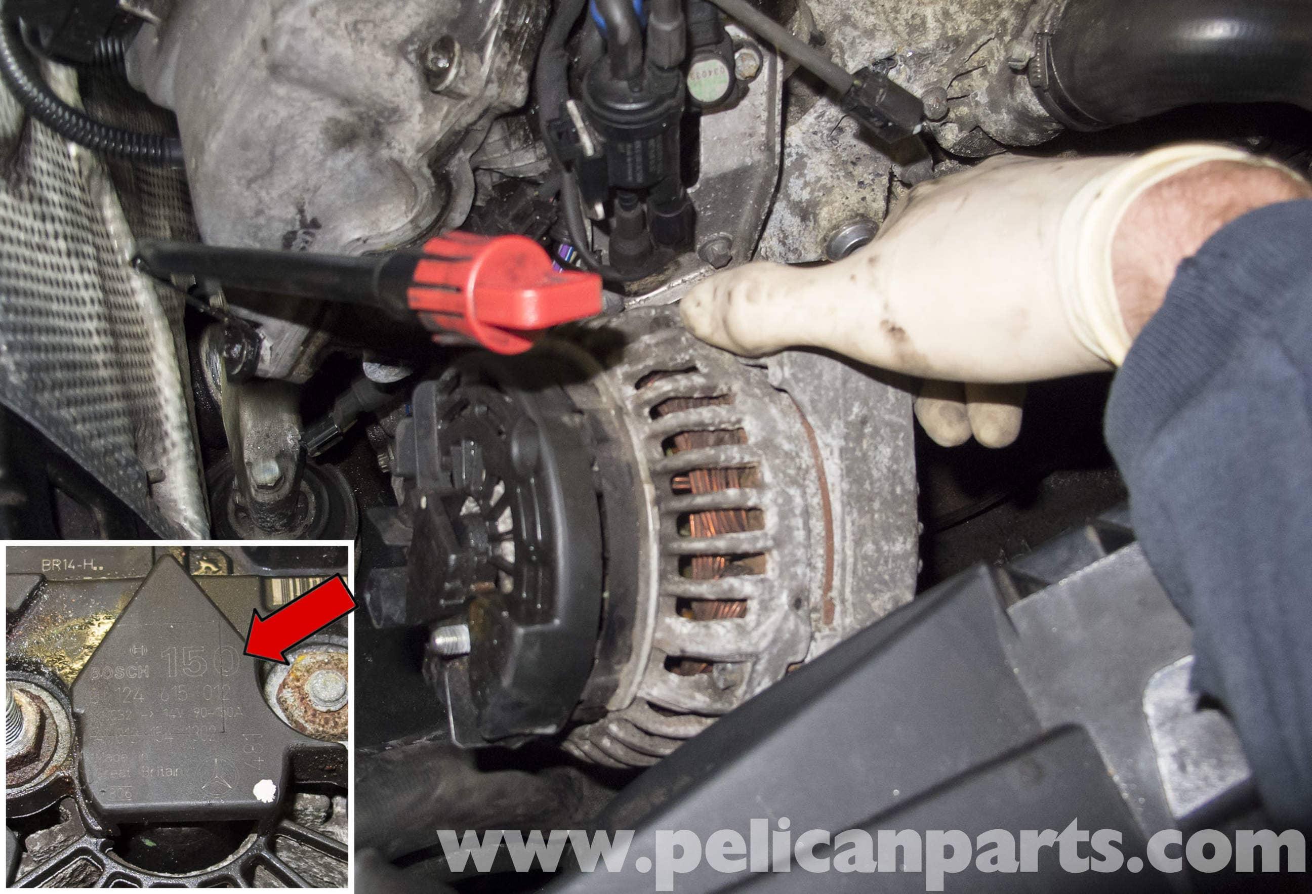 Mercedes-Benz W211 Alternator Replacement (2003-2009) E320