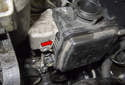Then lower the new power steering pump into the engine compartment.
