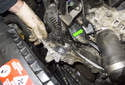 Remove the water pump from the engine by pulling it straight off.