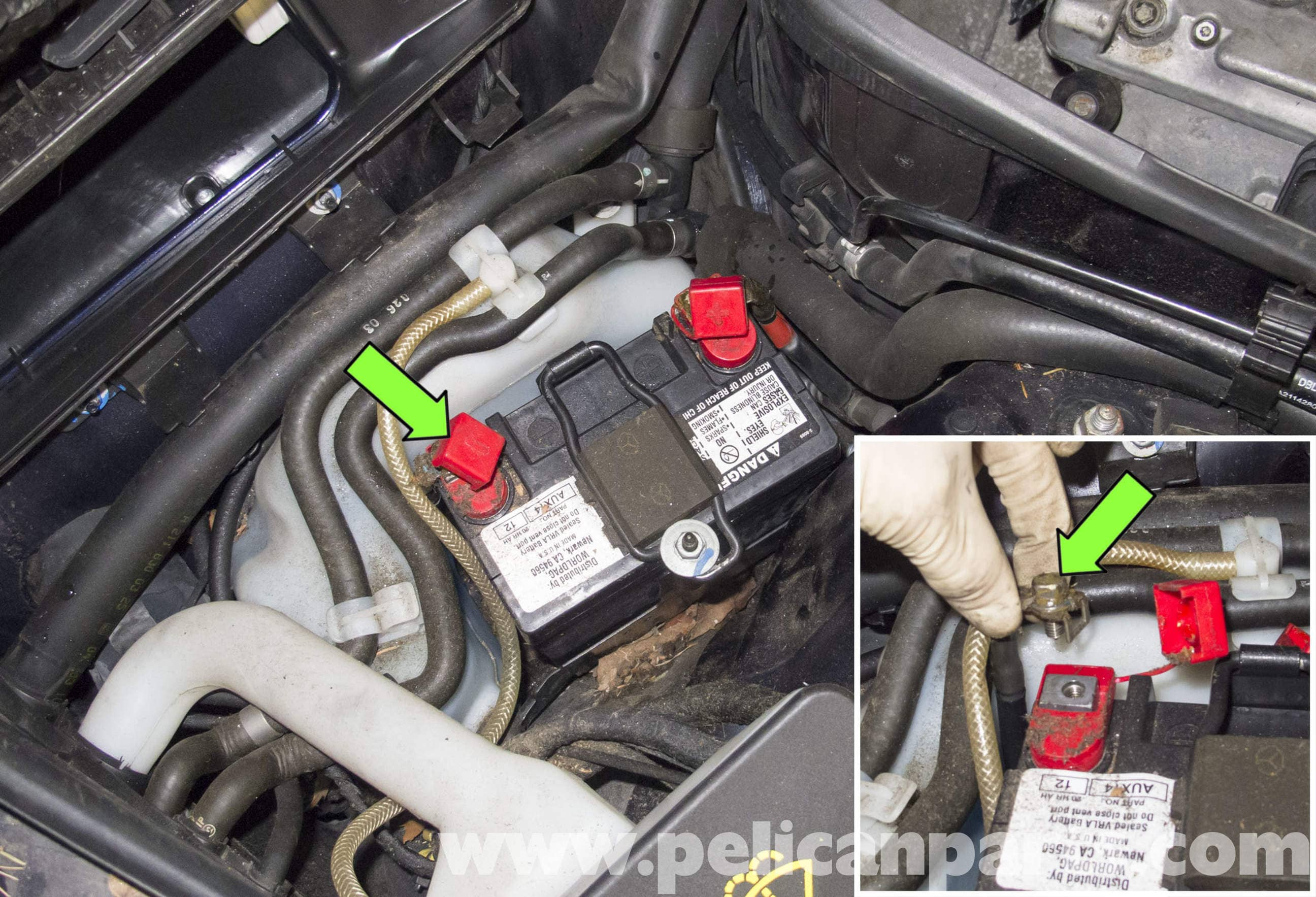 pic04 mercedes benz w211 auxiliary battery replacement (2003 2009) e320 2007 mercedes s550 fuse box location at bakdesigns.co
