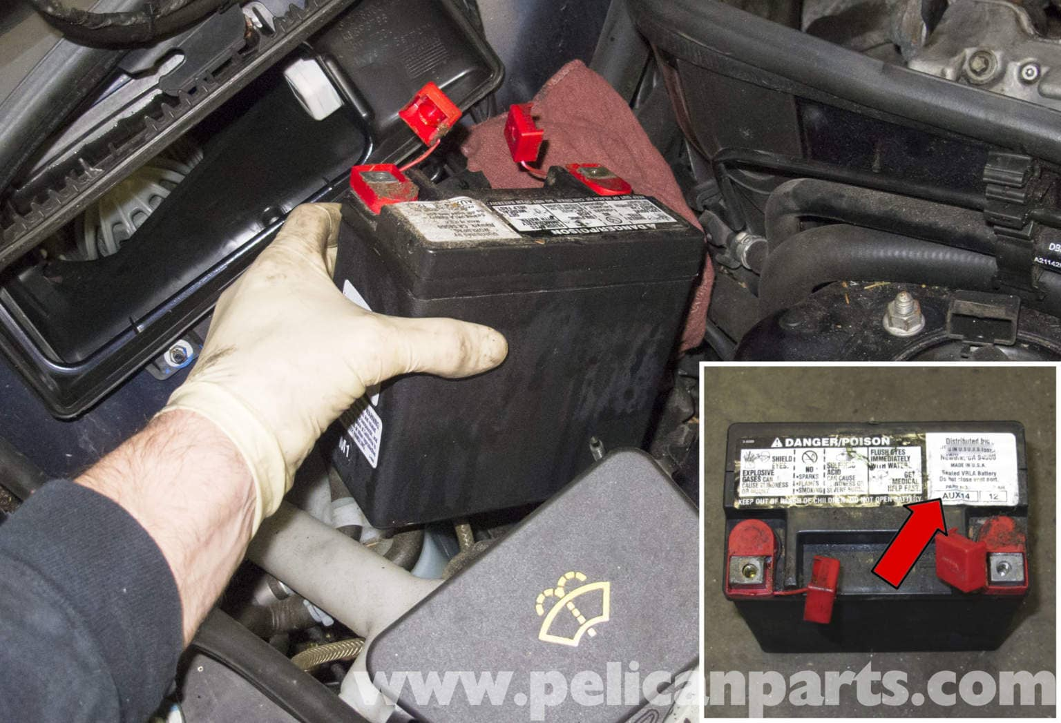 Mercedes Benz W211 Auxiliary Battery Replacement 2003