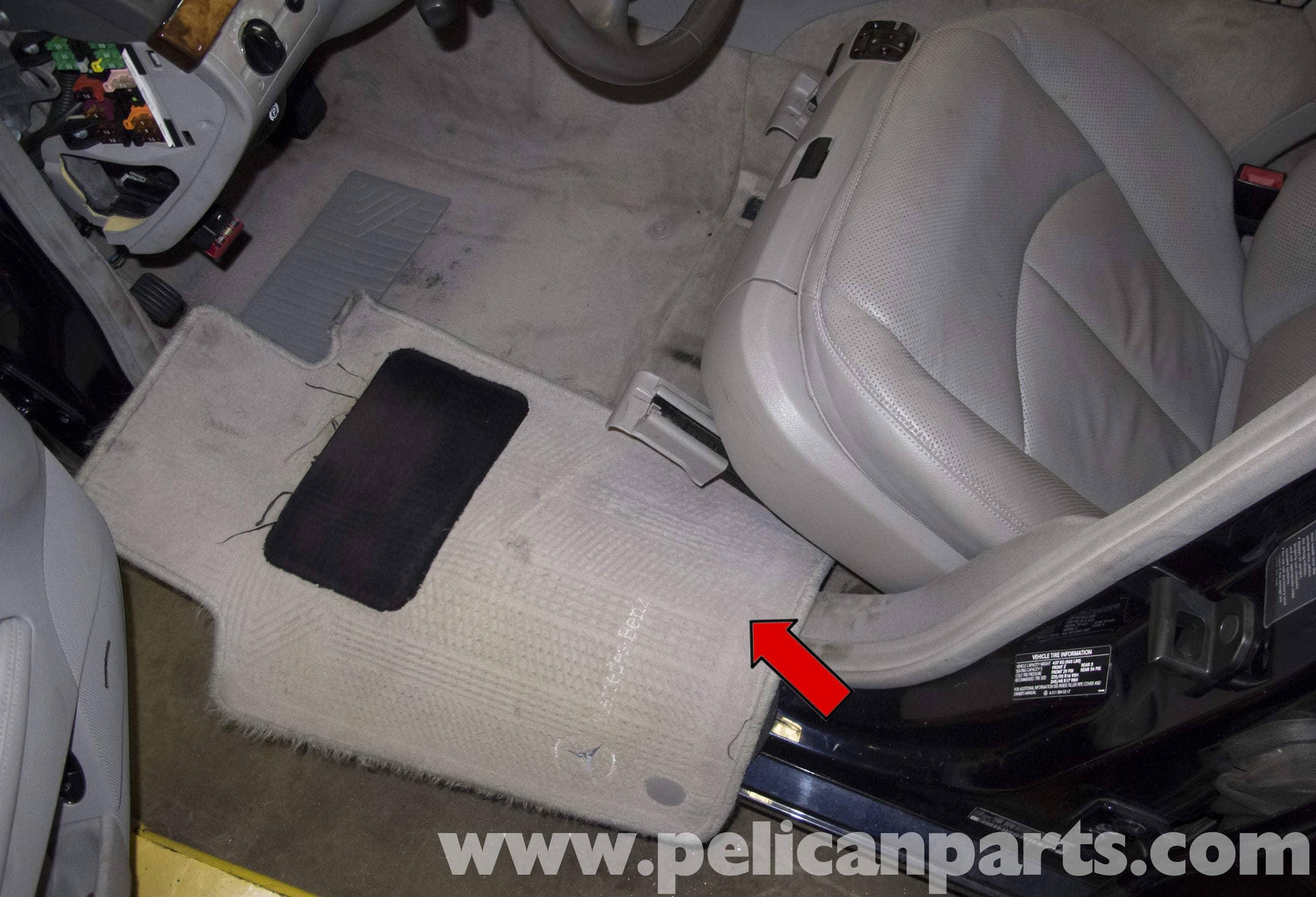 Mercedes Benz W211 Seat Removal 2003 2009 E320 E500