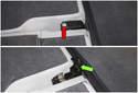 Rear Seat: Next, remove the T30 Torx fastener (red arrow).