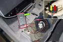 Electrical testing: Connect a DVOM across the fuel pump terminals.