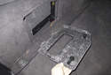 Electrical testing: Remove the door from the carpet trim panel.
