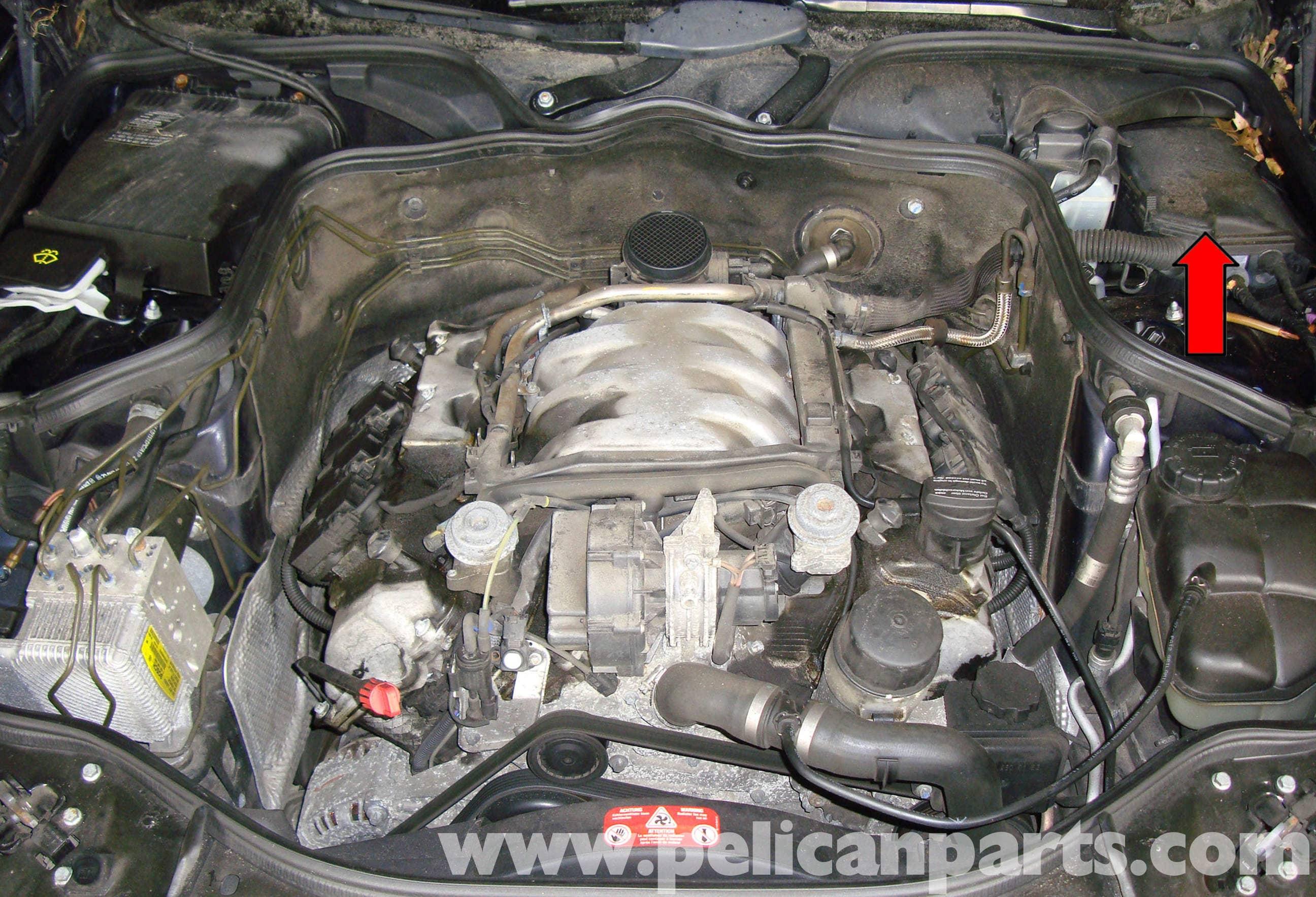 mercedes benz w211 high and low tone horns replacement 2003 2009 rh pelicanparts com Mercedes 320 CDI Mercedes Forum E-Class