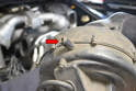 There is a spud on the rear of the blower motor (red arrow) that will fit in a bracket in the engine compartment.