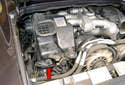 The cars with the newer style blower assembly have the temperature sensor below the fresh air inlet duct (red arrow).