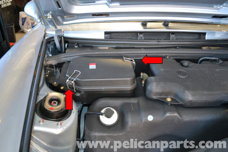 pull back the carpet in the front by the right side a-pillar and release