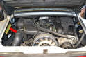 Move to the engine compartment; if you started with the motor cold it should not have gotten very warn while burning off the fuel and by the time you get access to the fuel rail it should be cool; if it is not wait until the motor is cool before working on the fuel system.