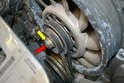 The alternator pulley is actually made of two separate parts.
