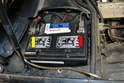 When working with the alternator it is a really good idea to disconnect both the positive (yellow arrow) and negative (red arrow) cables from the battery.