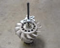 Once you have the fan out of the housing you will need to separate the fan from the alternator.