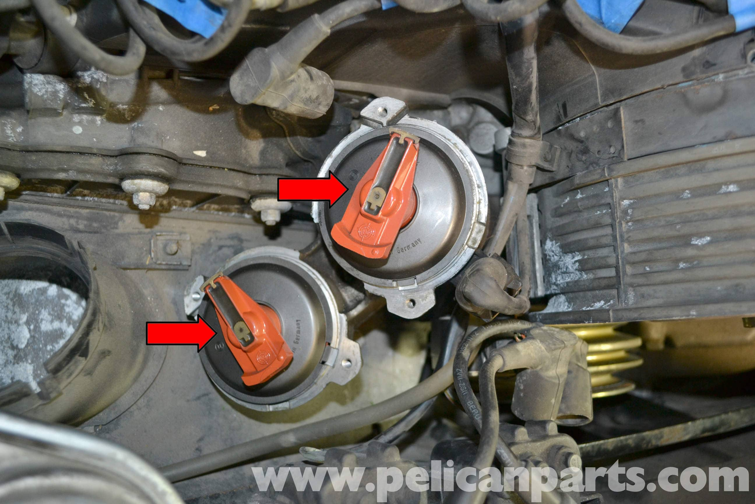Pelican Technical Article - Porsche 993 - Distributor Cap and Rotor ...