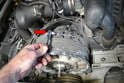You will also need to remove the alternator, fan and housing.