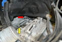With the fan housing removed you can see the bridge (yellow arrow) that is attached to all three cylinders and the sensor (red arrow) sits in the middle.