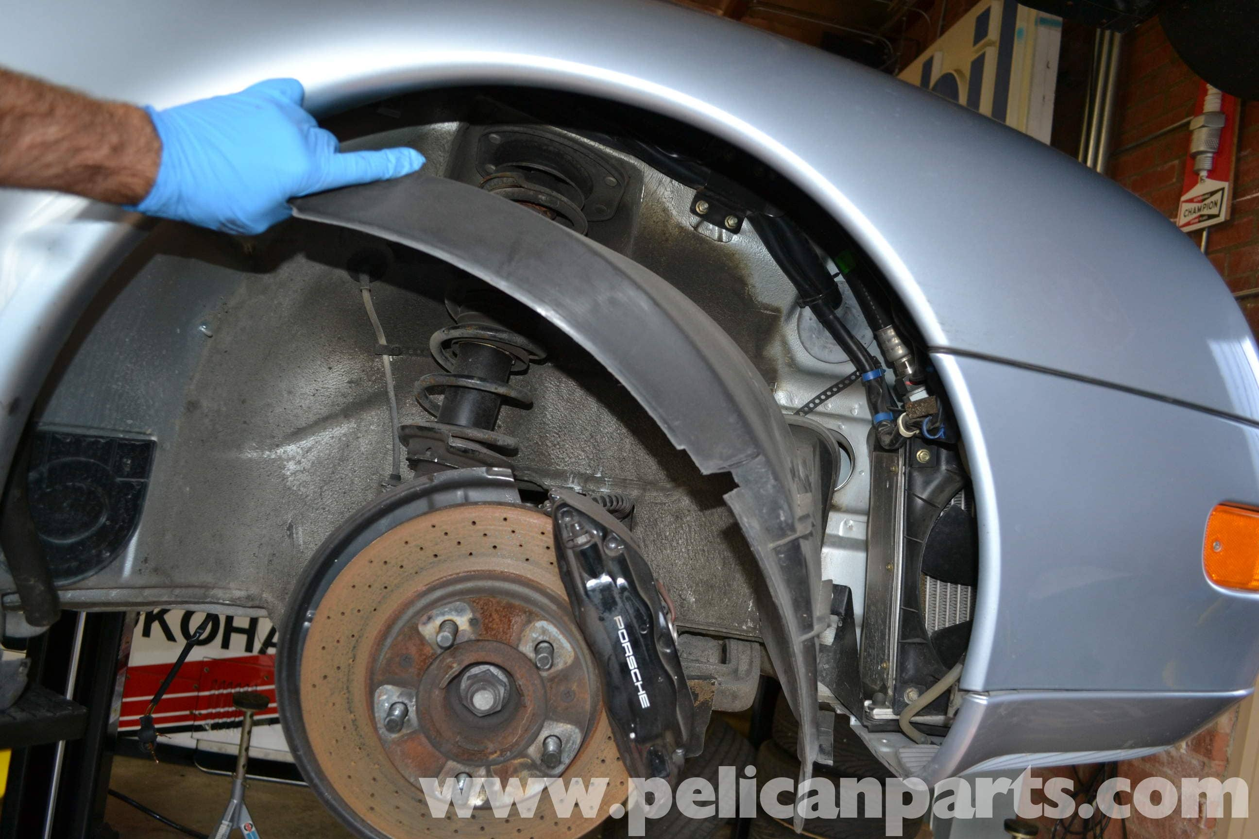 Pelican Technical Article - Porsche 993 - Wheel Well Liner Removal aa8287bc4