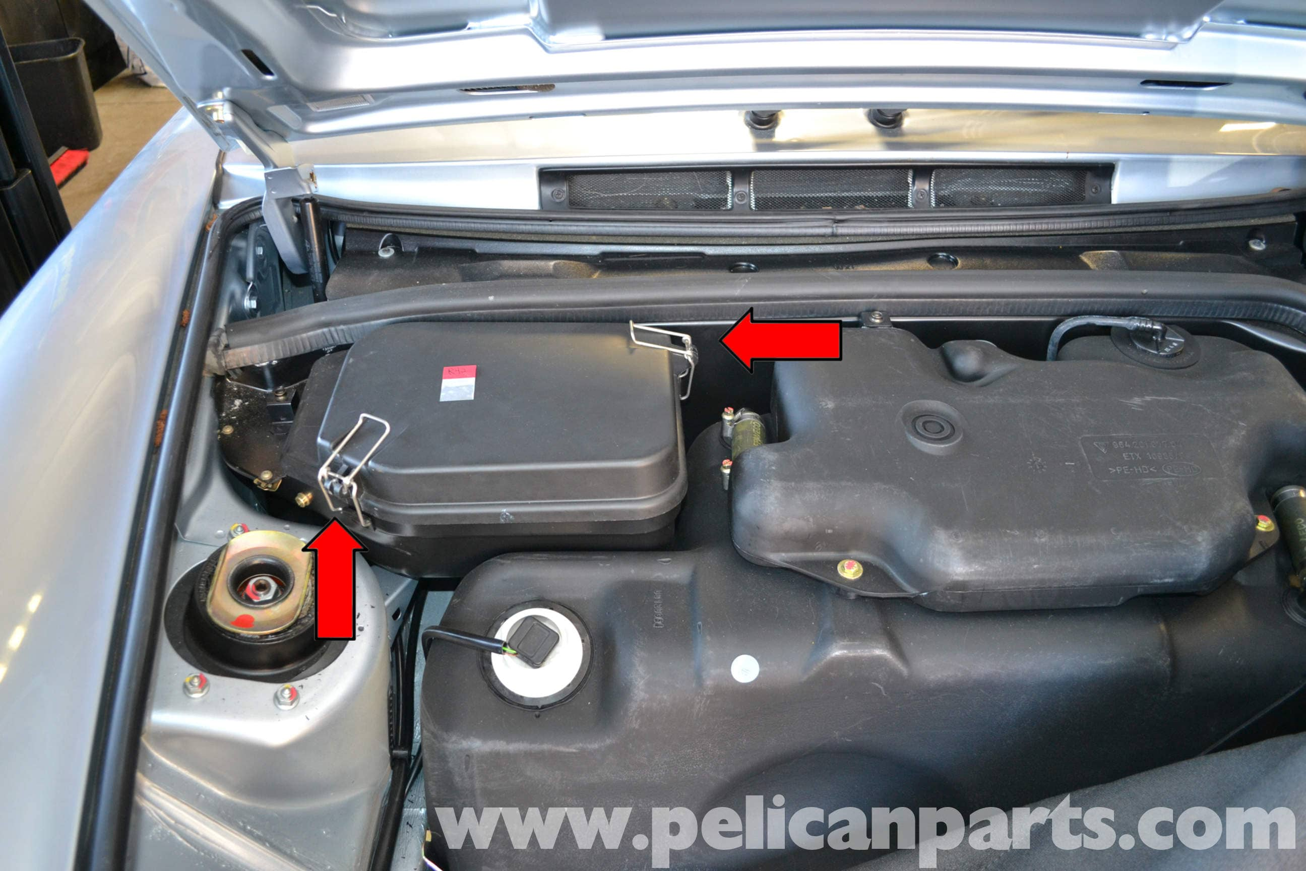 Pelican Technical Article Porsche 993 Horn Replacement Boxster Fuse Box Large Image Extra