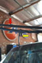 Pivot the wiper arm from the base until it stops in the up position approximately 90 degrees from the windshield.