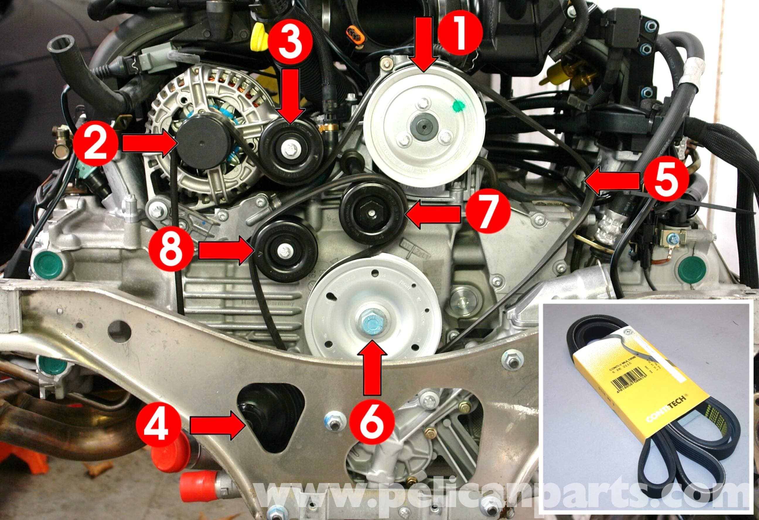 Porsche 911 Timing Belt Diagram Start Building A Wiring 1986 Flat 6 Engine Carrera Replacement 996 1998 2005 997 Rh Pelicanparts Com Radiator 2017 Frame