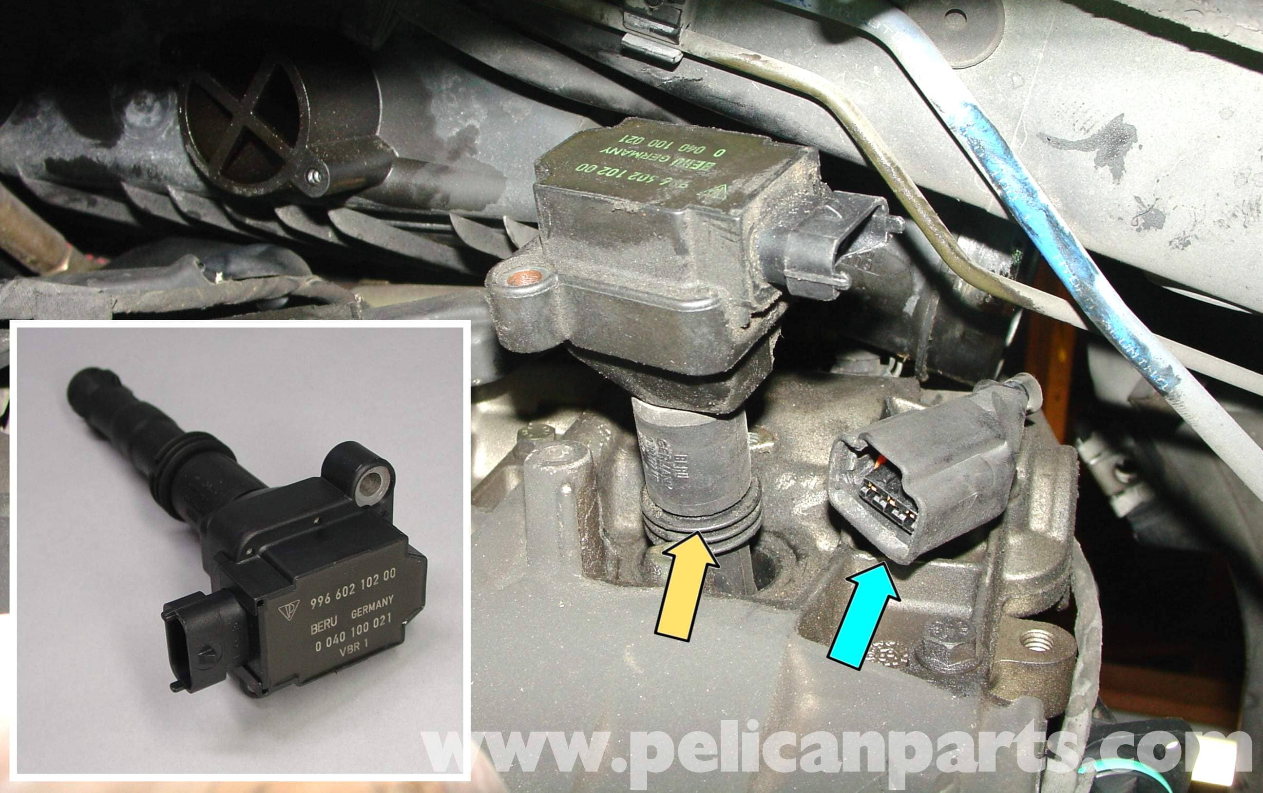 Porsche 911 Carrera Spark Plug Replacement - 996 (1998-2005) - 997 on lights and wires, battery and wires, bolts and wires, ford focus plug wires, spark plug wire parts, batteries and wires, horns and wires, spark plug wire checker, spark plug wire set, spark plug wire tool, fan belts and wires, ignition coils and wires, spark plug wire lube, spark plug cables, spark plug wire resistance chart, spark plug wire by the foot,