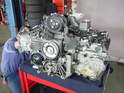 This particular engine was out of a Boxster, but the Carrera engine and Boxster