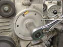 Disassembly: The first step in this whole process is to set the crankshaft to Top Dead Center (TDC) and lock it there.