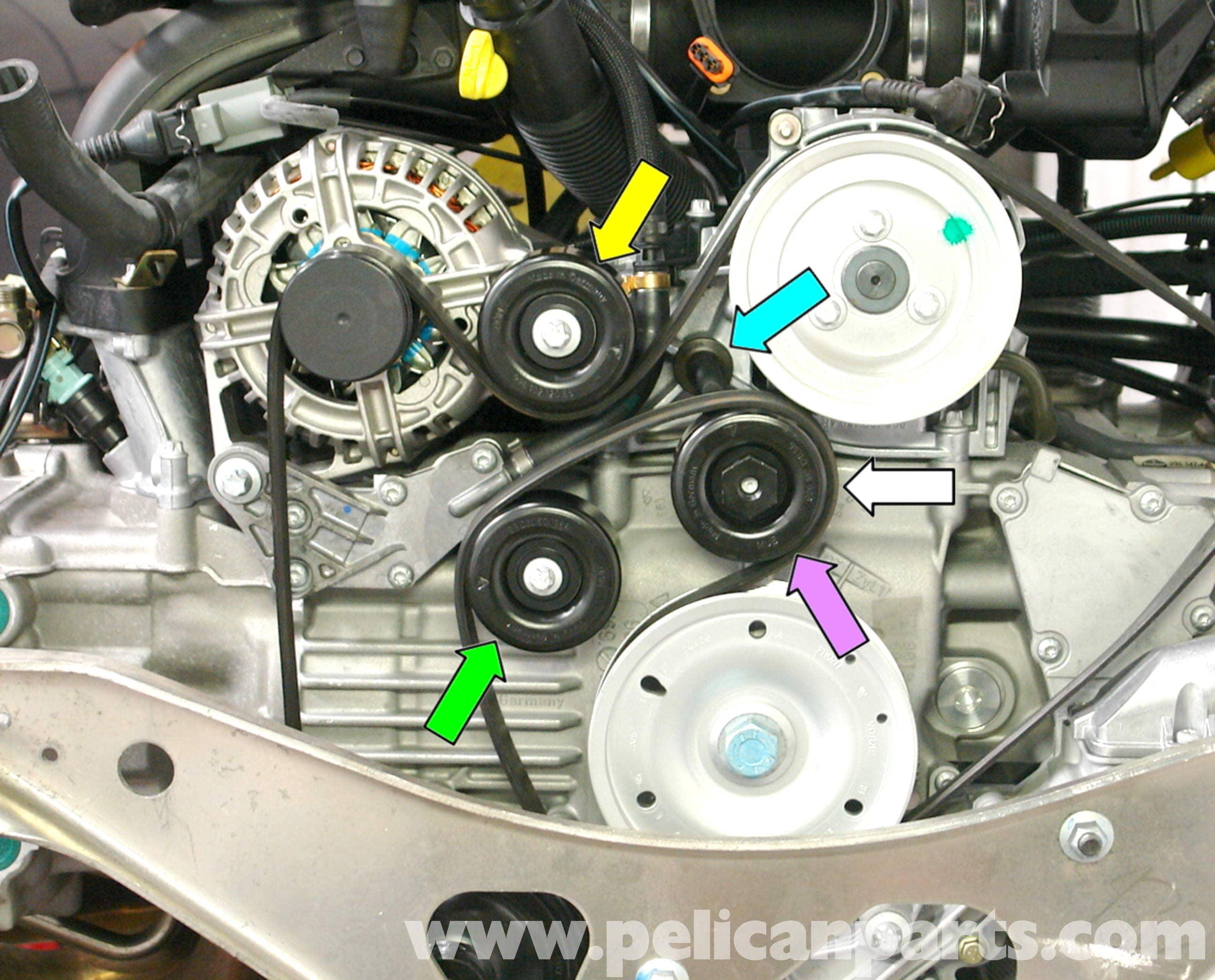 Porsche 911 Timing Belt Diagram Start Building A Wiring Carrera Tensioner Replacement 996 1998 2005 Rh Pelicanparts Com Flat 6