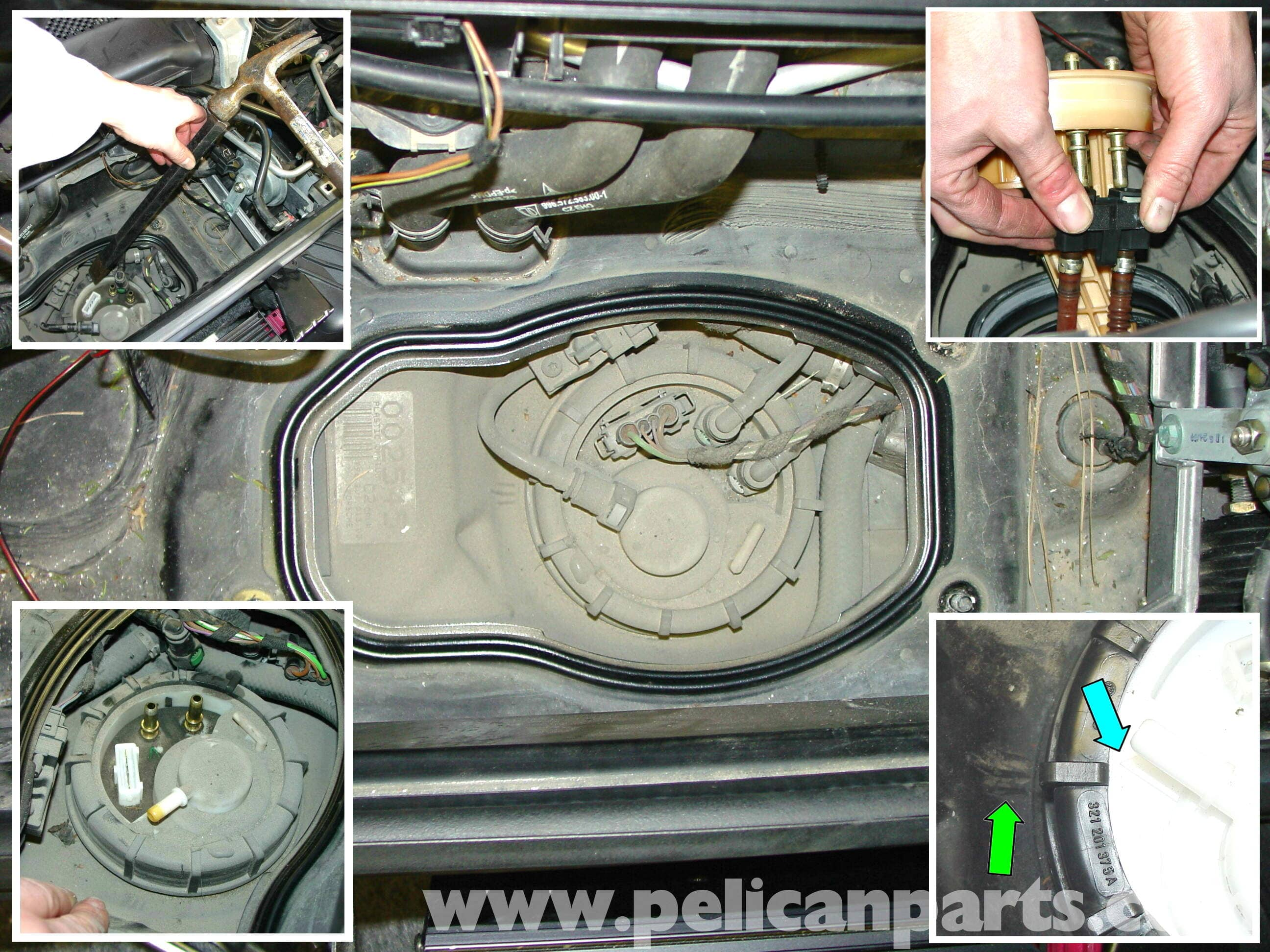 996 Fuel Gauge Wiring Guide And Troubleshooting Of Diagram Boxster Headlight Switch Porsche 911 Carrera Pump Replacement 1998 2005 997 Rh Pelicanparts Com Chevy Not Working
