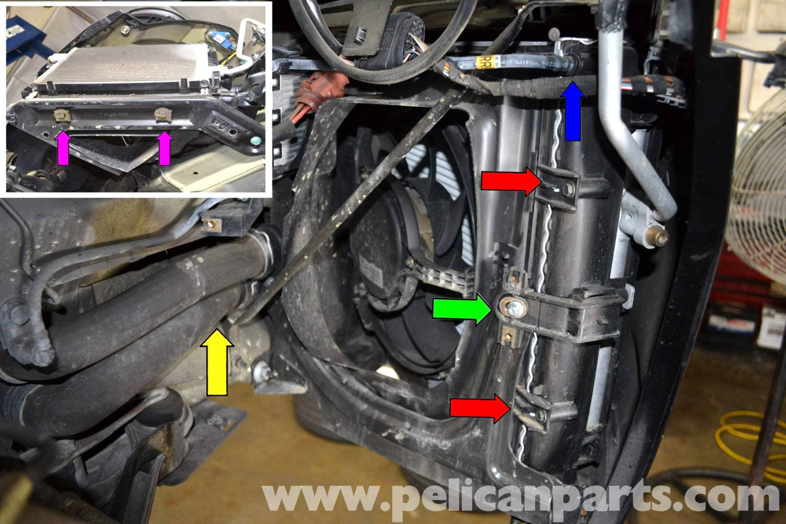 Porsche 911 Carrera Radiator And Fan Replacement 996 1998 2005 60 Chevy Engine Cooling Diagram Large Image