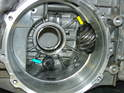 Here's the view inside the transmission case.